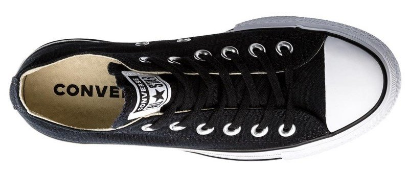 Topánky CONVERSE - CHUCK TAYLOR ALL STAR LIFT OX Black / White / Black