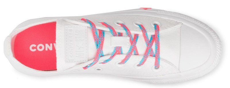 Topánky CONVERSE - CHUCK TAYLOR ALL STAR OX White / Ricer Pink / Gnarly Blue
