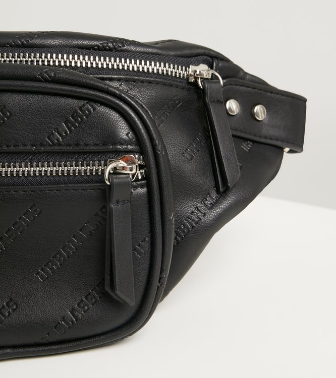 Ľadvinka URBAN CLASSICS - IMITATION LEATHER SHOULDER BAG / Black