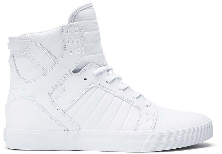 Topánky SUPRA - SKYTOP White   White   Red  509d61847b9