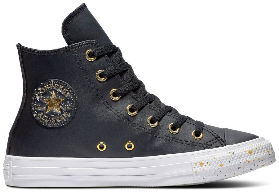 Topánky CONVERSE - CHUCK TAYLOR ALL STAR PRECIOUS METALS HI Black / Gold / White