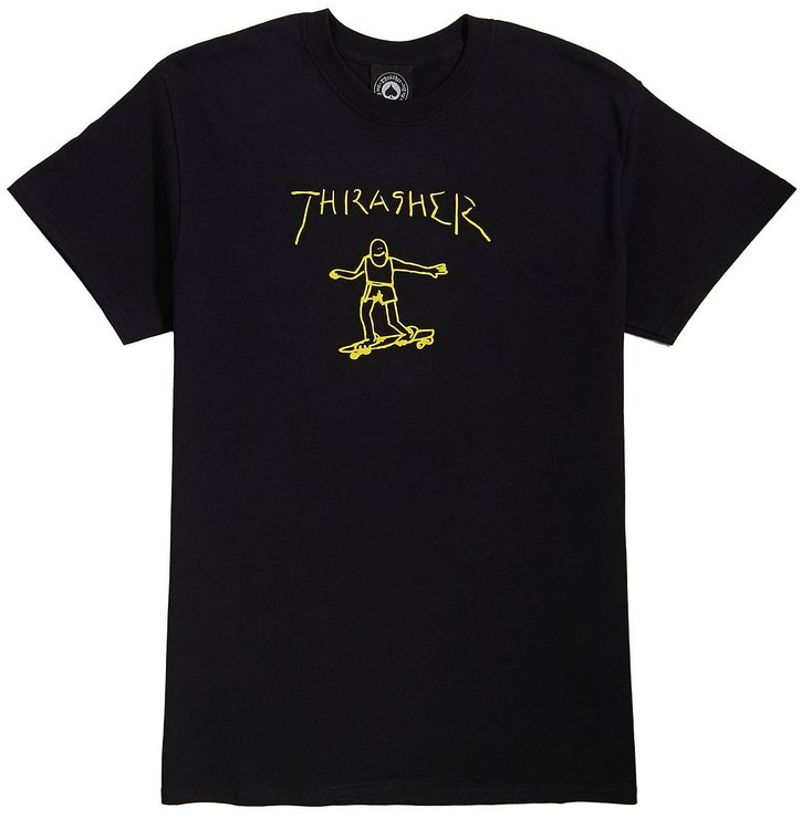 Tričko THRASHER - GONZ S/S  Black / Yellow