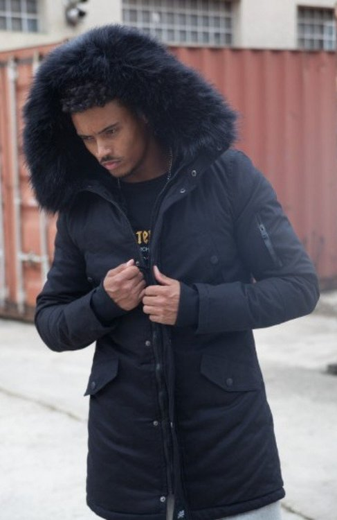 Bunda SIXTH JUNE - LINING FUR PARKA JACKED \ Black