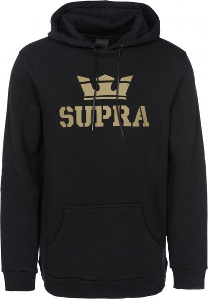 Mikina SUPRA – ABOVE HOODED PULLOVER Black \ Gold