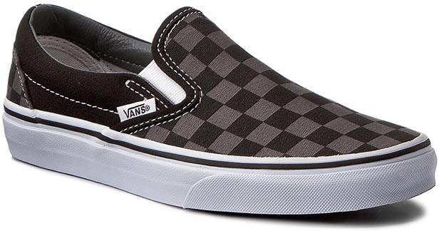 Topánky VANS - CLASSIC SLIP ON Black / Pewter Checkerboard