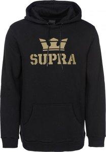 Mikina SUPRA – ABOVE HOODED PULLOVER Black   Gold  f5f1932c26e