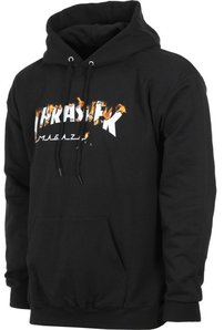 Mikina THRASHER - INTRO BURNER HOODIE / Black