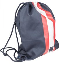 Vak URBAN CLASSICS - STRIPED GYM BAG Navy / Fire Red / White